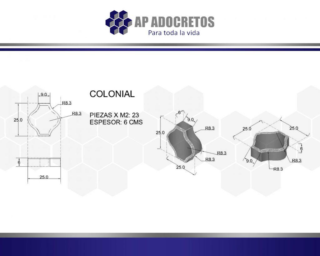 Ficha técnica Adoquin Colonial