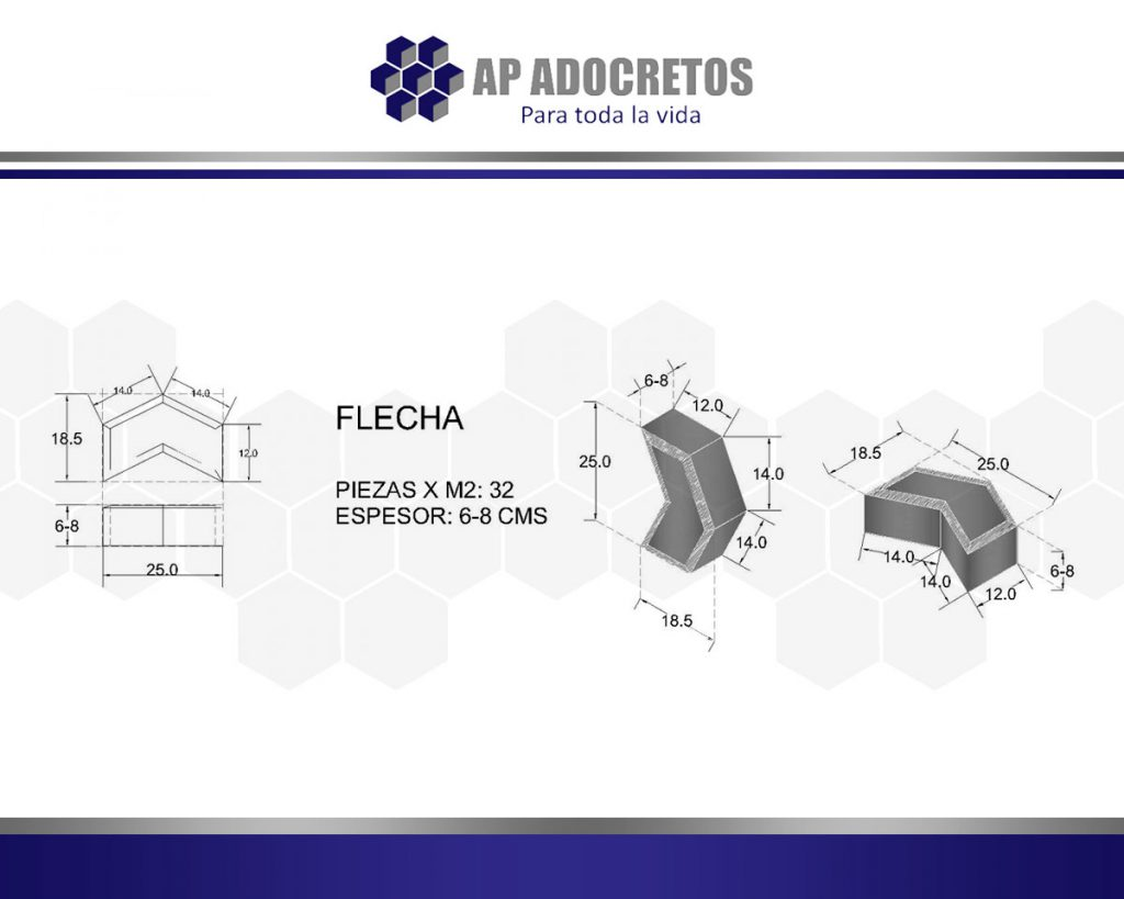 Ficha técnica Adoquin Flecha