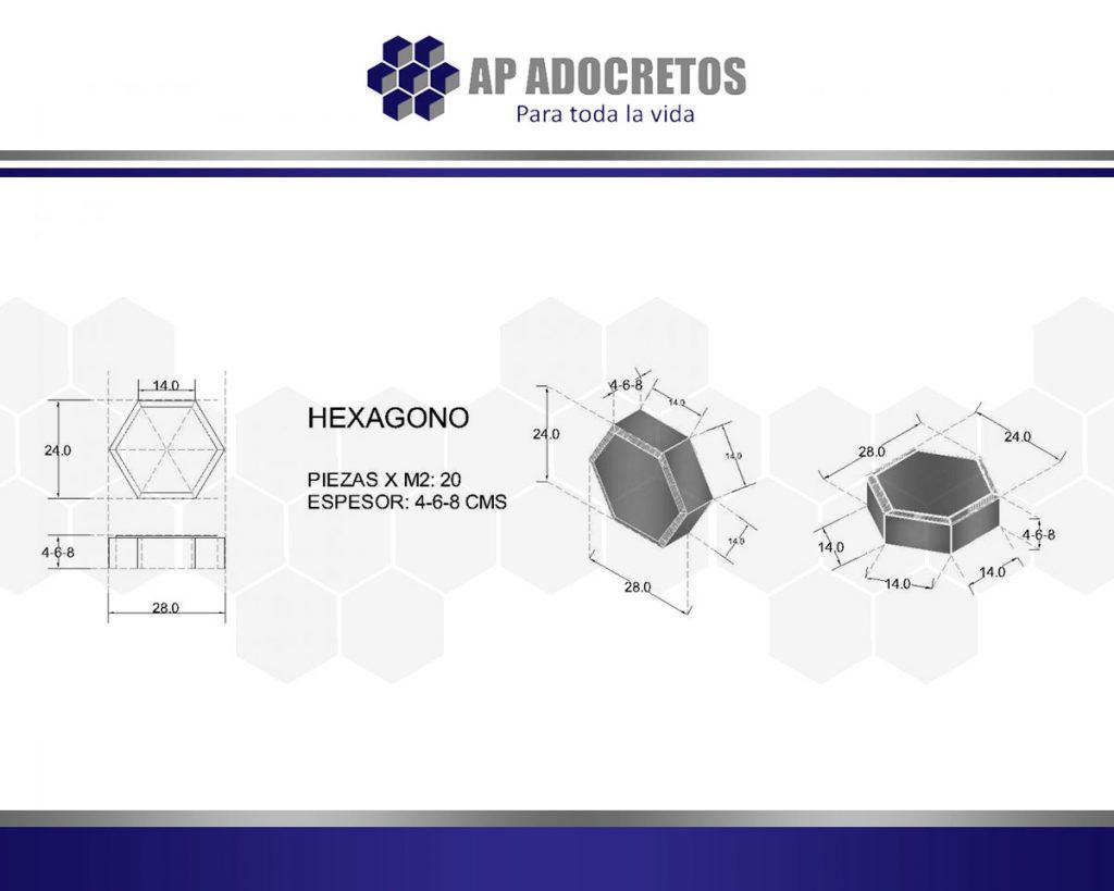 Ficha técnica Adoquin Hexagono