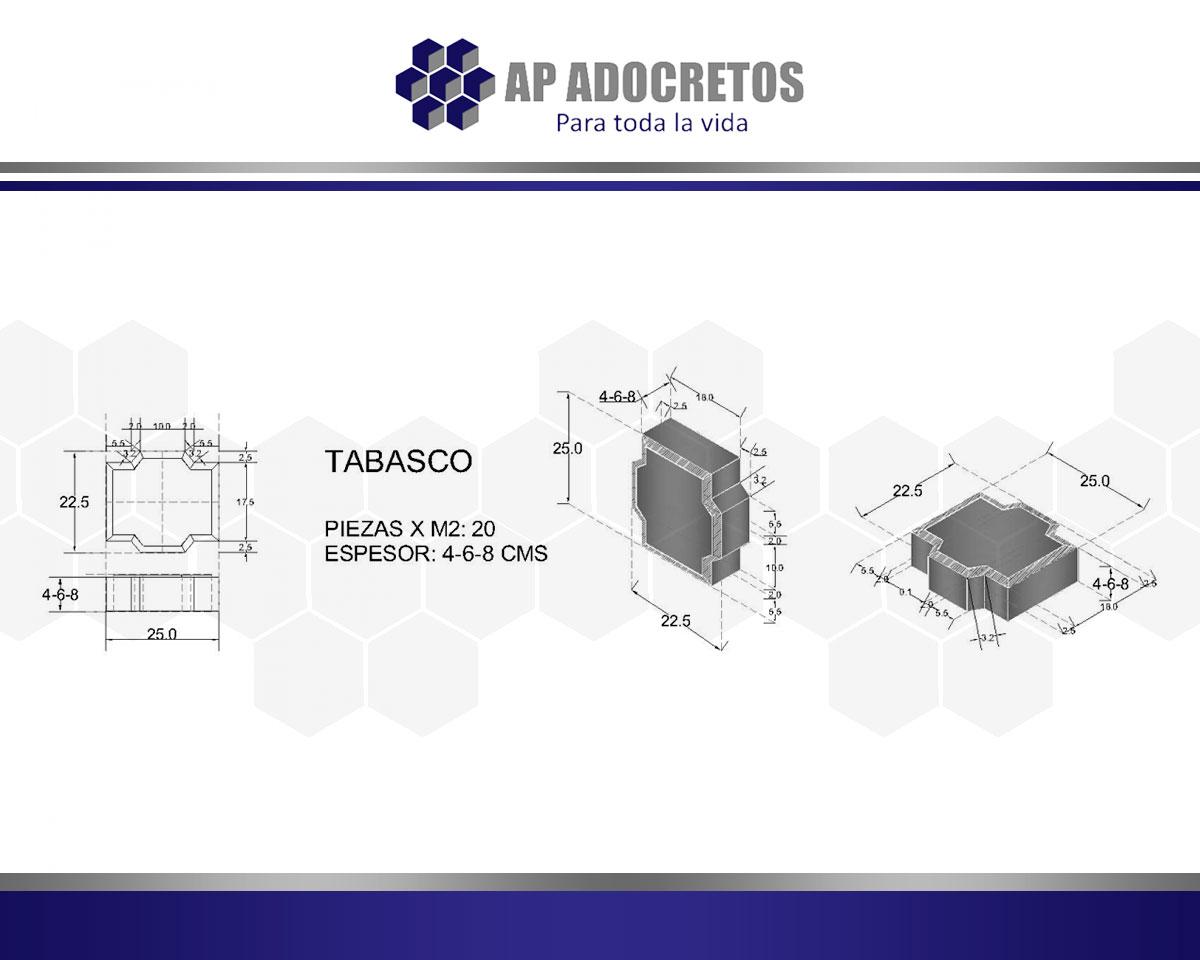 Ficha técnica Adoquin Tabasco