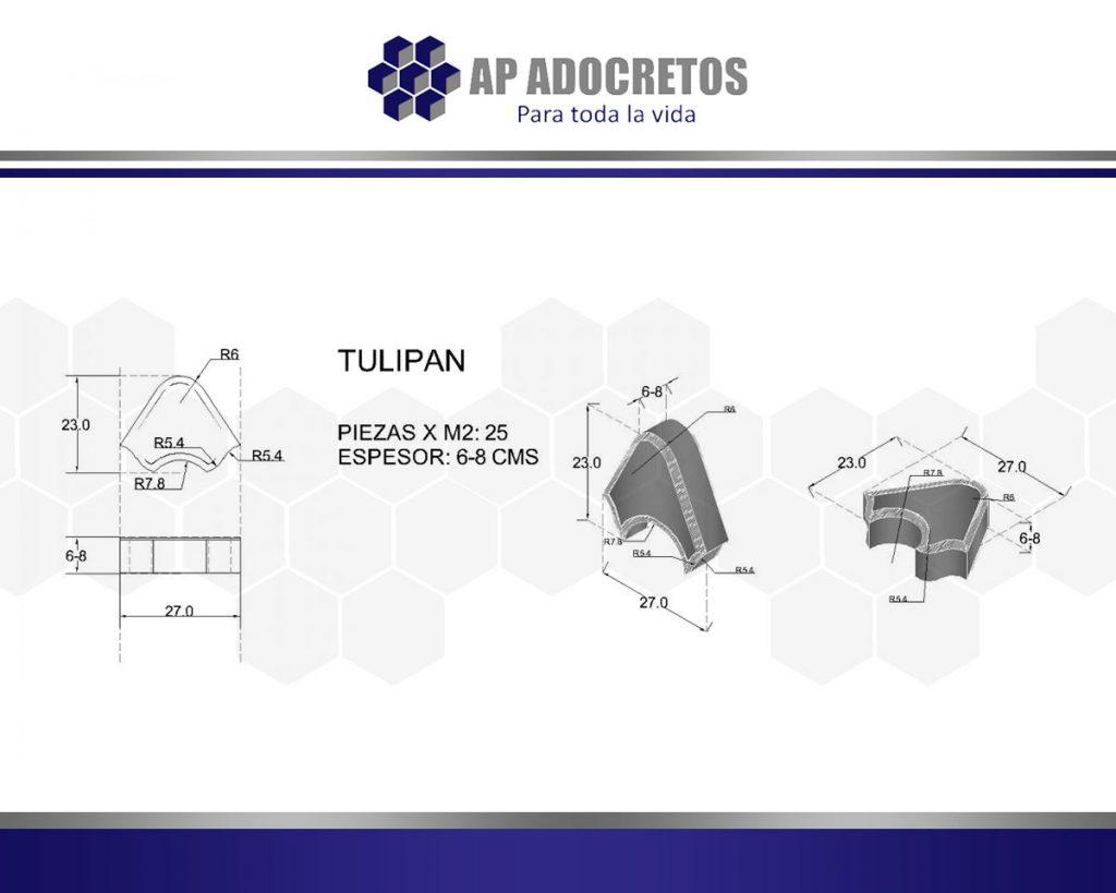 Ficha técnica Adoquin Tulipan