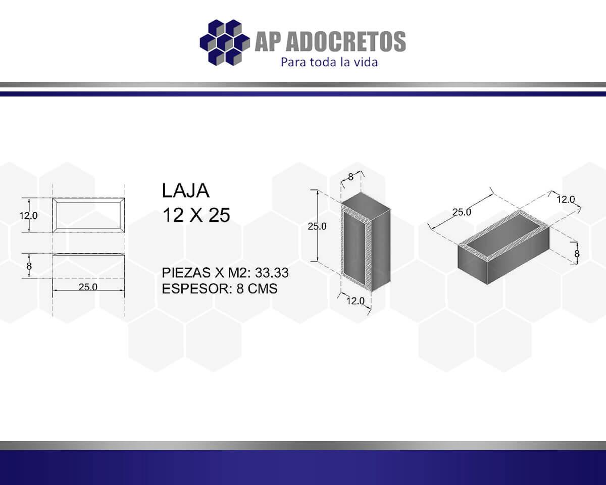 Ficha técnica Adoquin LAJA 12X25
