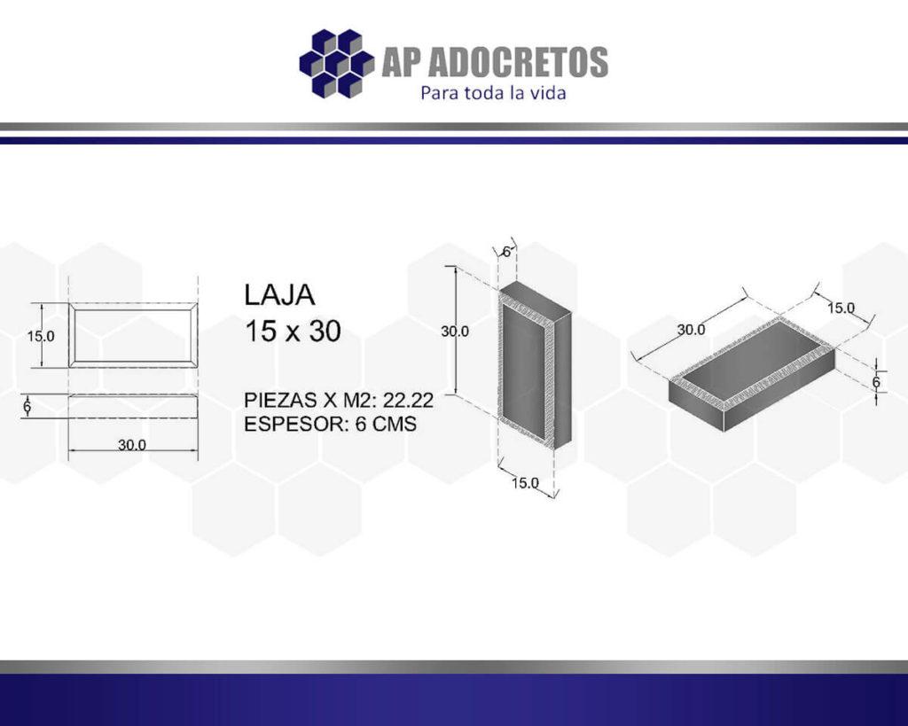 Ficha técnica Adoquin LAJA 15x30