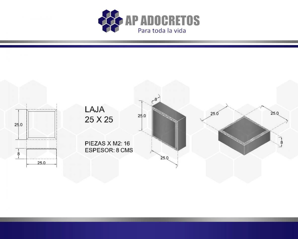 Ficha técnica Adoquin LAJA 25X25