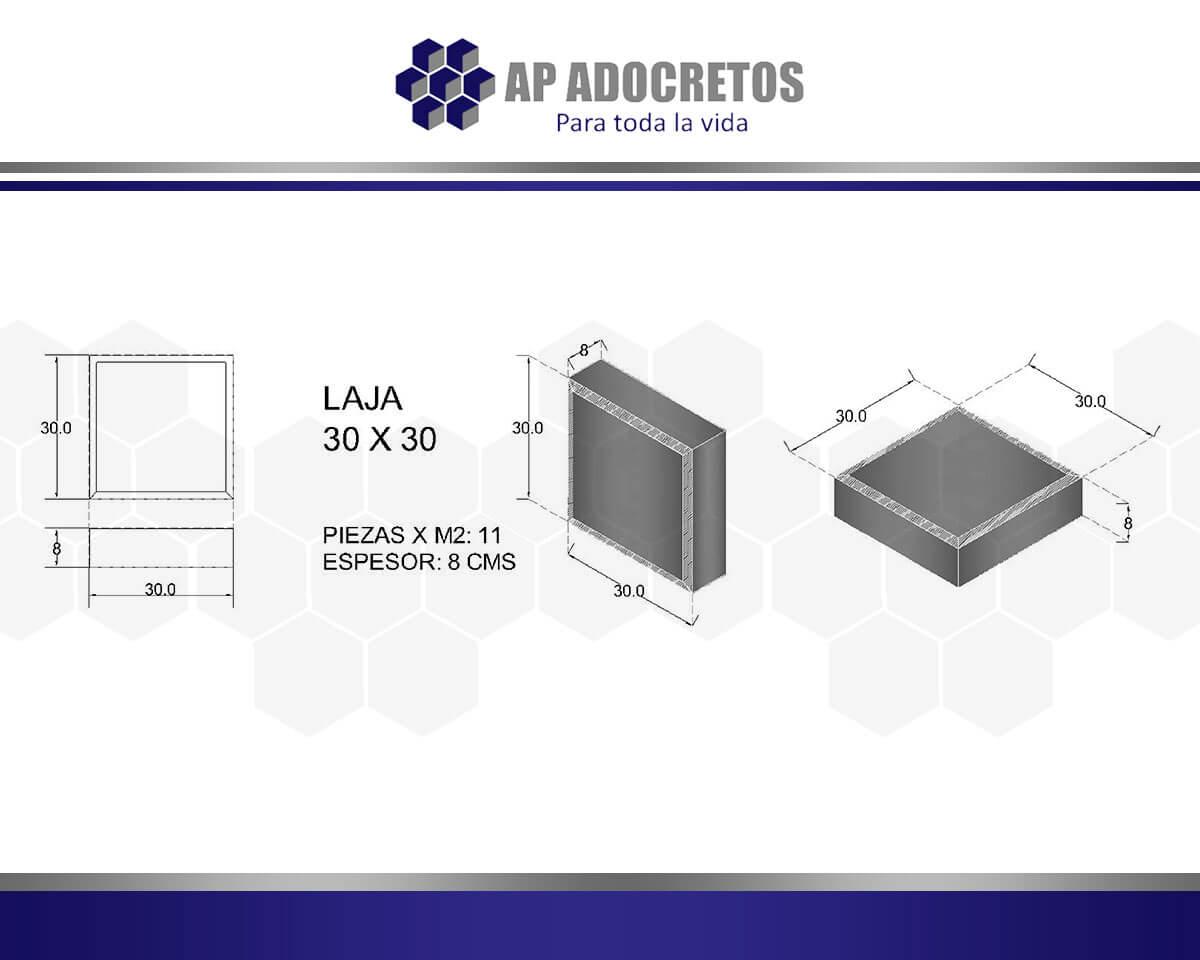 Ficha técnica Adoquin LAJA 30X30