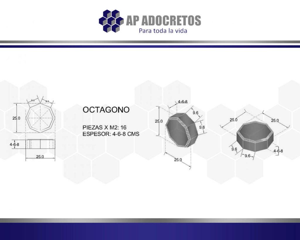 Ficha técnica Adoquin OCTAGONO 25X25
